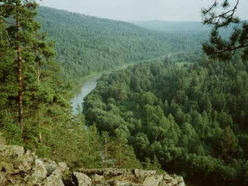 Вид на Инзер, вверх по течению
